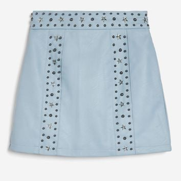 Star Stud Mini Skirt - Skirts - Clothing