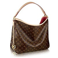 Monogram Women Delightful MM Handbag Article: M50156 Made in France