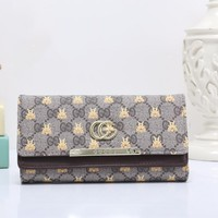Gucci Women Fashion Leather Buckle Wallet Purse-28