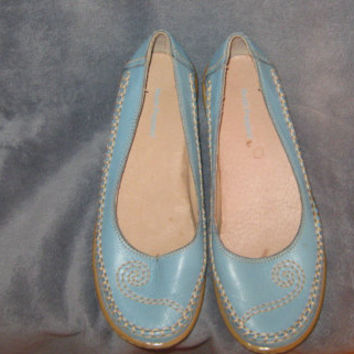 Vintage Leather Curlicue Hush Puppies Slip on Shoes Size 7 M