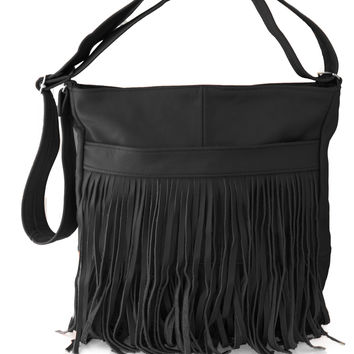 AFONiE Fringe Mexican Leather Handbag
