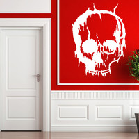 Cracked Skull Wall Decal