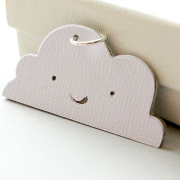 Happy Cloud-Recycled Paper Charm