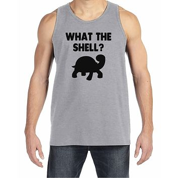 7 ate 9 Apparel Mens What The Shell? Tank Top