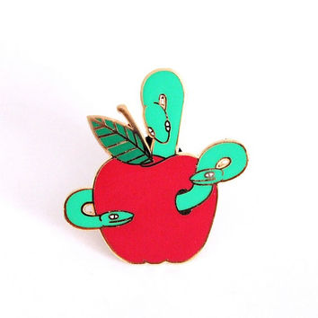 Bad Apple Enamel Lapel Pin