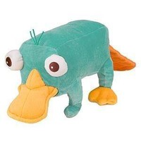"""Disney Phineas and Ferb - Plush Mini Bean Bag Toy - 10"""" PERRY"""