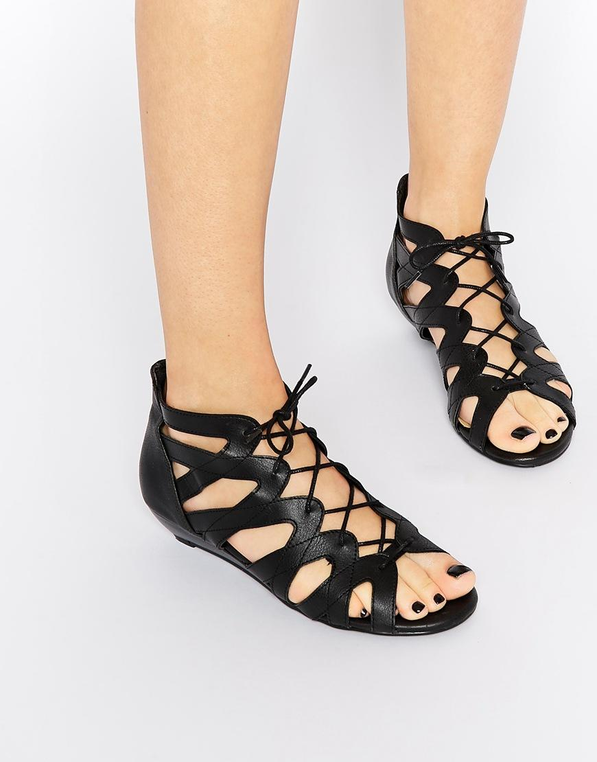 new look ghilly black wedge sandals from asos