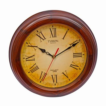 TYRION Antique Wooden Analog Wall Clock from flipkartcom