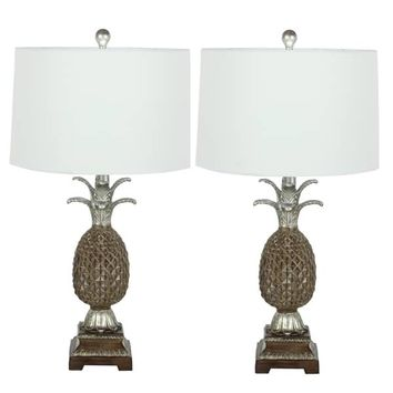 Urban Designs Pineapple 28-inch Polystone Table Lamp (Set of 2) | Overstock.com Shopping - The Best Deals on Lamp Sets