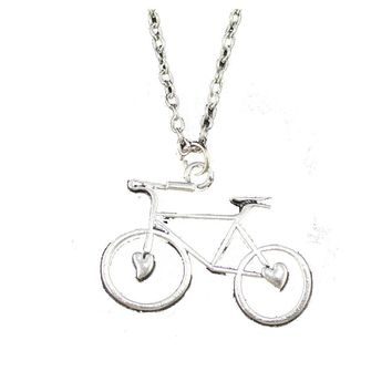 Bicycle Pendant Short Necklace For Women
