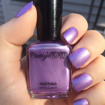 Metallic Lilac Purple Nail Polish