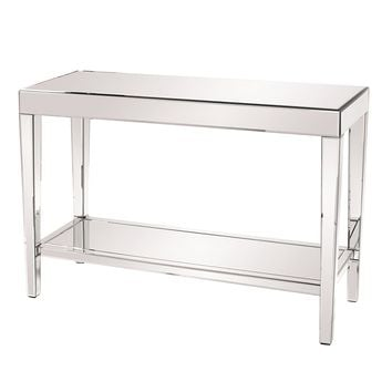 Howard Elliott 11096 Mirrored Console Table with a Bottom Shelf