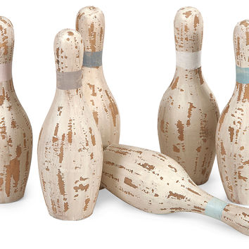Asst. of 6 Davis Bowling Pins,