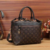LV Women Shopping Bag Leather Crossbody Satchel Shoulder Bag Handbag