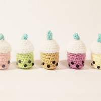 Bubble Tea - Boba Tea - Amigurumi Keychain - Kawaii Plush - Cute Plush - Christmas Gift - Holiday Gift