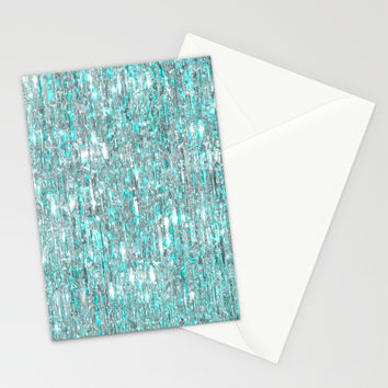 The Cold Never Bothered Me Anyway (Frozen Icicle Abstract) Stationery Cards by soaring anchor designs ⚓ | Society6