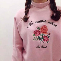 Roses High-Necked Sweatshirt