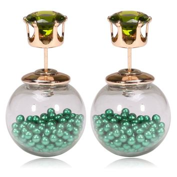 Gum Tee Tribal Earrings - Floating Caviar Green