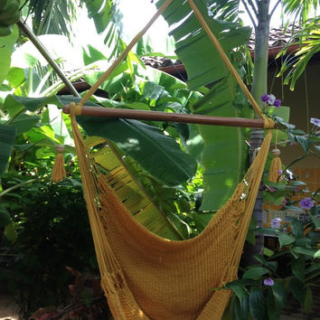Mission Hammocks Hanging Hammock Chair Organic Cotton - Yellow
