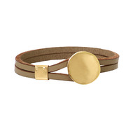 LEATHER BRACELET  Gold Plated Solid Sterling Silver  Gift For Her  Leather  bridesmaids Gift   Handmade  Fine Jewelry   FREE shipping.
