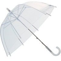 RainStoppers W103CHDOME 34-Inch Children's Plastic Umbrella, Clear Dome