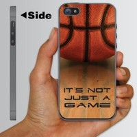 "iPhone 5 Case - Basketball Design ""It's Not Just a Game!"" - CLEAR Protective Hard Case"
