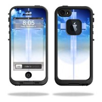 Mightyskins Protective Vinyl Skin Decal Cover for LifeProof iPhone 5/5s/SE Case fre Case wrap sticker skins Cross