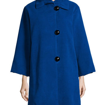 Soft Coated Mid-Length Coat, Size: