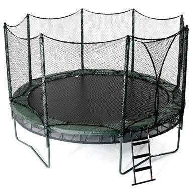 the double bounce trampoline hammacher from hammacher schlemmer. Black Bedroom Furniture Sets. Home Design Ideas