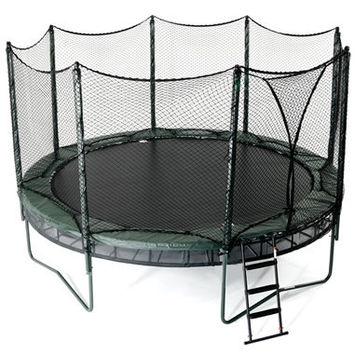 the double bounce trampoline hammacher from hammacher. Black Bedroom Furniture Sets. Home Design Ideas