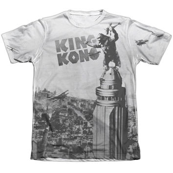 KING KONG/BREAKING LOOSE-ADULT POLY/COTTON S/S TEE-WHITE