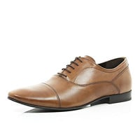 River Island MensBrown round toe formal shoes