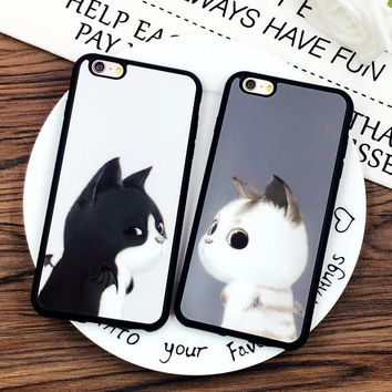 Lovers supreme Couple Plating Mirror Case for iphone  6 6s 7 7plus Phone Cases shell Soft Silicone Frame Back Cover coque