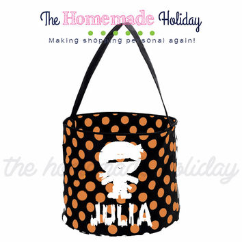 Personalized Mummy Trick or Treat Halloween Bags
