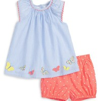 Mini Boden 'Pretty Appliqué' Top & Shorts Set (Baby Girls & Toddler Girls) | Nordstrom