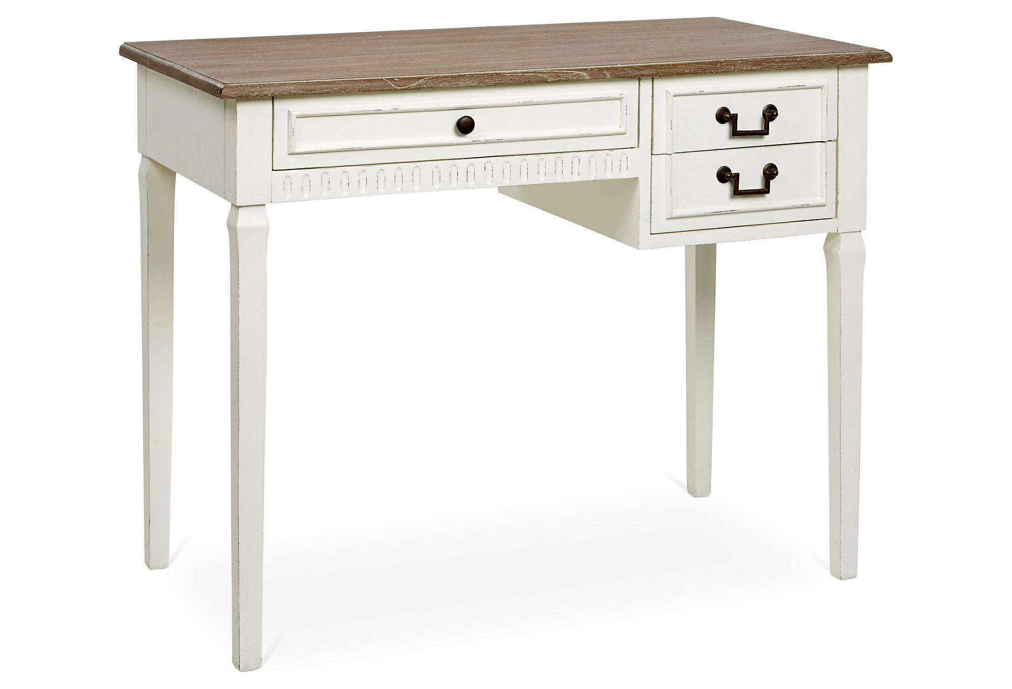 Luca Writing Desk Antique White Brown From One Kings Lane