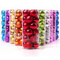 Christmas Tree Xmas Balls Decorations Baubles Party Wedding Ornament 24pcs 4cm