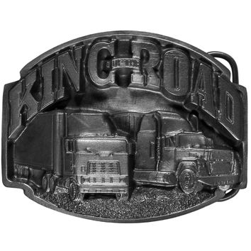 Sports Accessories - King of the Road  Antiqued Belt Buckle