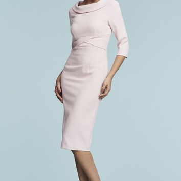 The Pretty Dress Company Kennedy Roll Collar Pencil Dress