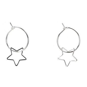 Mini Star Ring Hoops