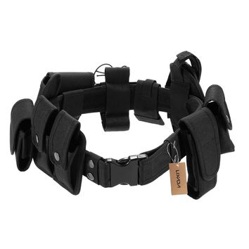 Lixada Tactical Police Duty Belt Security Belts Military Training Polices Guard Utility Kit Duty Belt with Pouches System Nylon