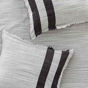 4040 Locust Spacedye Stripe Sham Set - Black One