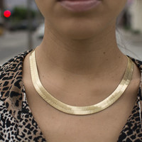 Gold Statement Collar Necklace