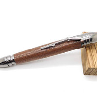 Hand turned Gun Metal Civil War Pen featuring Walnut, handcrafted pen, domestic walnut wood, gift for him, Civil War Buff, fifth anniversary