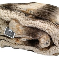 Tache Brown Safari Faux Fur Throw Blanket (DY04)