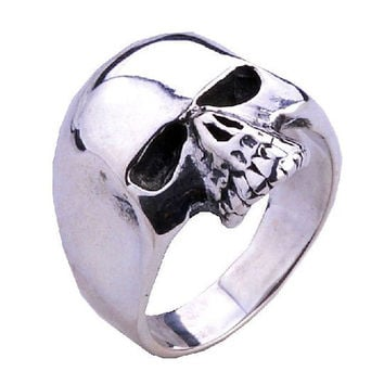 Demon Evil Skull Ring Head Punk Rock Jewelry for Men-Size 11