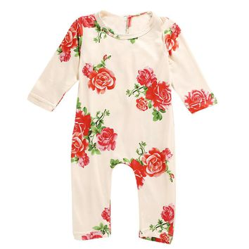 6-24M Floral Long Sleeve/Pants Romper