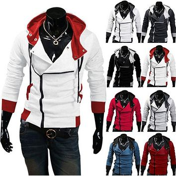 Stylish Assassins Creed Hoodie Men's Cosplay Assassin's Creed Hoodies Cool Slim Jacket Costume Coat