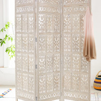 Amber Wooden Carved Screen | Urban Outfitters
