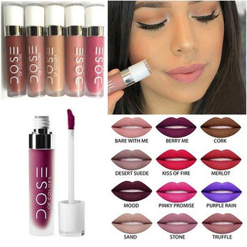 Dose of Colors Matte Liquid Lipsticks 12Color with Retail Package Nutritious Matte Liquid Lipstick Dose of Colors(Size 12) [9302670986]
